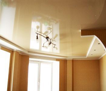 Потолок в детскую комнату беж