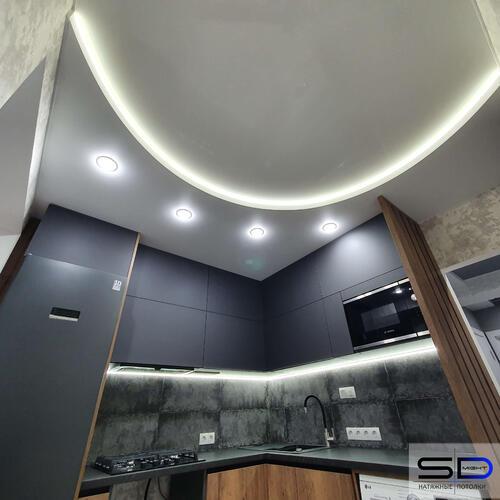 Фото Натяжной потолок на кухню