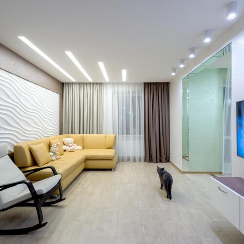 Картинка Натяжной потолок в зале - гостиной