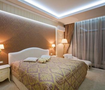 Матовый потолок комбинированный