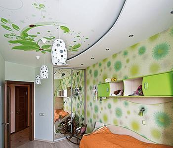 Матовый потолок c подсветкой