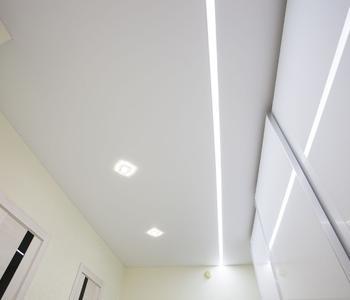 Натяжной-матовый потолок линии
