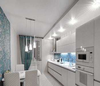 Тканевый потолок с подсветкой