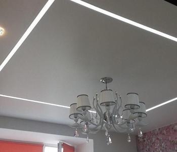 Тканевый потолок линиии