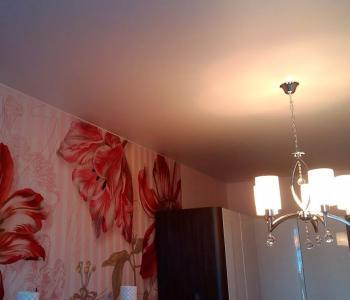 Тканевый потолок беж