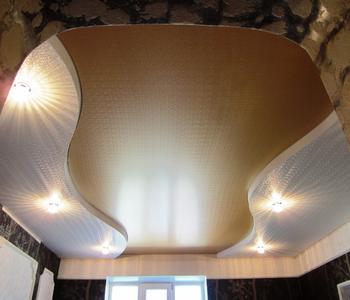 Натяжной потолок золотой эксклюзивный