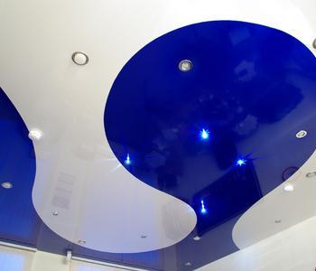 Комбинированный синий и белый