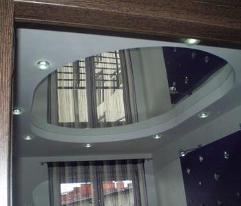 Натяжной потолок зеркало