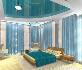 Натяжной  потолок в спальную комнату