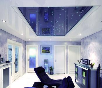 Потолок в детскую синий