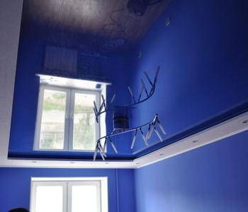 Детская синий  потолок