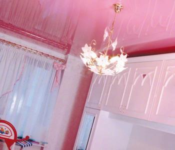 Розовый  глянец на кухню