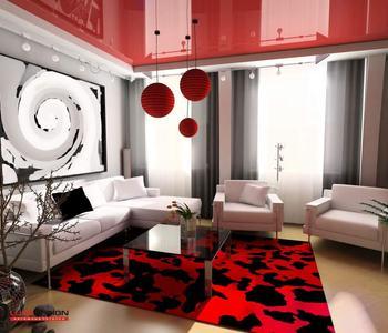 Потолок красный цвет в гостиную